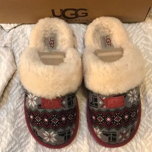 Ugg Cozy Nordic Knit Slippers Size 7